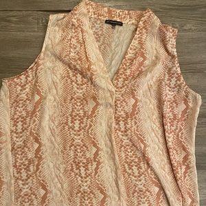 EUC Adrianna Papell Snake print blouse